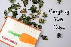 Everything Kale Chips are an awesome alternative to traditional chips in school lunches and they are very tasty! {Weelicious} #Kale