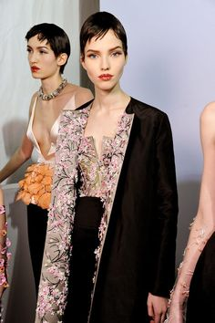 #SashaLuss #backstage @ Christian Dior Spring 2013 Couture
