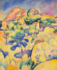 Georges Braque - Landscape at La Ciotat (1907) ♥ Inspirations, Idées & Suggestions, JesuisauJardin.fr, Atelier de paysage Paris, Stéphane Vimond Créateur de jardins ♥