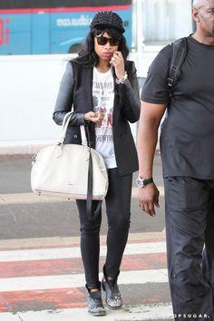 Don't be fooled by Jennifer Hudson's casual tee! | 91 Style Tips to Steal From the Airport's Best Dressed Celebs | POPSUGAR Fashion Photo 70