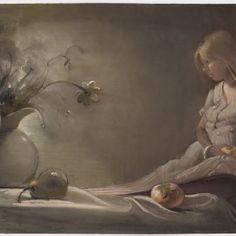 "Lisa YuskavagePersimmon, 2007Pastel on Paper28 x 39 ½"" #lisayuskavage #persimmon #pastel #workonpaper #art #drawing #portrait #figurative #nude #5womenartists @womeninthearts"