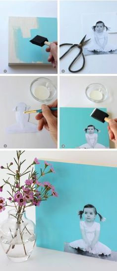 DIY Modern Photo Wall Art