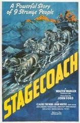 Directed by John Ford. With John Wayne, Claire Trevor, Andy Devine, John Carradine. A group of people traveling on a stagecoach find their journey complicated by the threat of Geronimo and learn something about each other in the process. John Wayne, Sheriff, Ghoul Movie, John Carradine, Movie Of The Week, Story People, Western Film, Western Movies, Posters