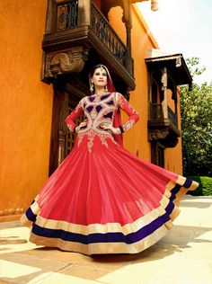 Fascinating red rose pink designer salwar kameez will add shine to your character with embroidery works. Addsharesale is a platform for supplier meet sellers online portal. www.addsharesale.com
