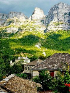 Papigo, a Greek traditional village in Epirus, attracts hikers and mountaineers from all over the world Greece Mykonos, Santorini, Places To See, Places To Travel, Places In Greece, Vida Natural, Greek Isles, Ancient Greece, Greece Travel
