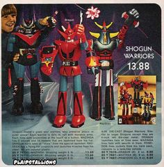 1970s, Mattel licensed Shogun Warrior toys. Wanted one of these so bad, never got one.