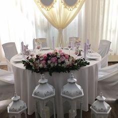 Stół Młodej Pary, dekoracje na stole nowożeńców