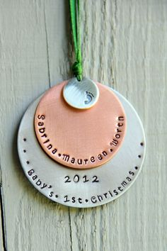 Baby's First Christmas Ornament 1st Christmas by whiteliliedesigns on etsy $31.00