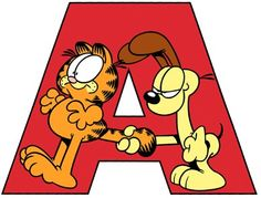 A Garfield Cartoon, Garfield And Odie, Garfield Comics, Comic Cat, Garfield Pictures, Hagar The Horrible, Childrens Alphabet, Hello Kitty, Snoopy And Woodstock