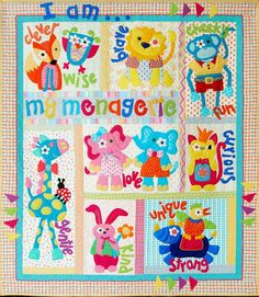 My Menagerie Quilt Pattern - Set of 9 Patterns