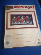 "Dimensions Counted Cross Stitch ""Joyful Snowmen"" kit. New Sealed Christmas"