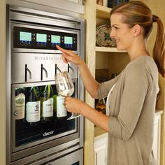 This dreamy Dacor Wine Station is perfect for Wine Wednesdays.
