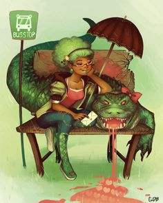 baltimoreprincess:  fuckyeablackart: Allovegator. by *GDBee  No clue what this is about, but I love her hair.