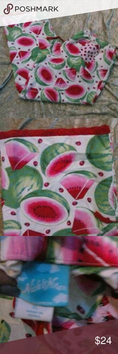 NICK & NORA WATERMELON LADY BUG PJ Pants XL Nick & Nora super cute summer print with watermelons and lady bugs with red lace around bottom of pant legs, draw string waist Size XL 100% Cotton, Colors as shown. Thanks for stopping by! Nick & Nora Intimates & Sleepwear
