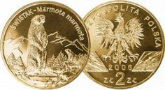 Poland 2006 Endangered Species - Alpine Marmot Ground Squirrel 2 Zlote Nordic Gold Proof-Like BU