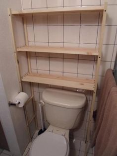 Custom Over The Toilet Bathroom Shelf