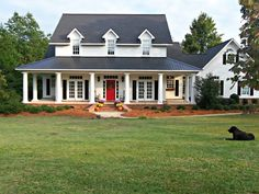 House Wrap Around Porch, House With Porch, House Roof, House Plan With Loft, House Floor Plans, Southern Farmhouse, Modern Farmhouse, Ohio House, Farm House