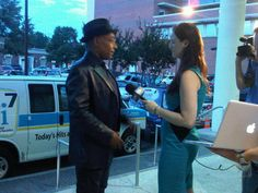 Giancarlo Esposito stopped by the Wilmington screening of #Revolution.