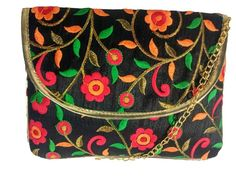 Handpicked With Luv Party Wear Box Clutch with Detachable Sling for Women and Girls