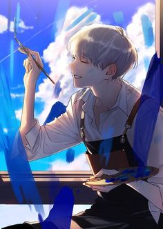 Cool Anime Guys, Cute Anime Boy, Anime Art Girl, Anime Boys, Anime Boy Smile, Oc Manga, Manga Boy, Art Plastic, Japon Illustration