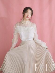 Photo album containing 9 pictures of IU Luna Fashion, Elle Magazine, Outerwear Women, Ulzzang Girl, Korean Beauty, Girl Crushes, Korean Girl, Korean Wave, Kpop Girls