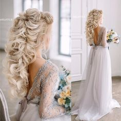 Pin by Hair Style Models on Hair Styles in 2019 Evening Hairstyles, Easy Hairstyles For Long Hair, Bride Hairstyles, Bridal Hair Pins, Wedding Hair And Makeup, Hair Makeup, Pagent Hair, Prom Hair, Gorgeous Hair