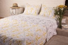 Quilts from India - Cotton Bed Comforters - Hand Block Printed from Attiser