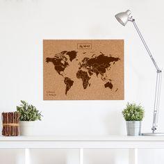 Carte du monde en liège Woody