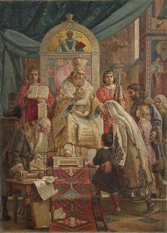 Uros Predic - Sveti Sava blagosilja srbčad