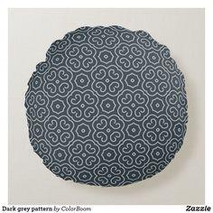 Dark grey pattern round pillow Grey Home Decor, Grey Cushions, Round Pillow, Grey Pattern, Soft Pillows, Decorative Cushions, Dark Grey, Soft Fabrics, Charcoal