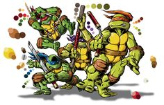 Tmnt-group-laird-swatches by wccomics.deviantart.com on @DeviantArt