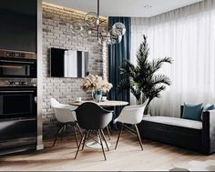 A imagem pode conter: mesa e área interna Home Room Design, Small Living Rooms, Apartment Design, Apartment Interior, Townhouse Interior, Open Plan Living Room, Home Decor, House Interior, Interior Design