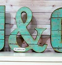 Wedding Letter Set with Ampersand, Wedding Decor - Initials - Custom - Personalized