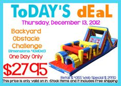 Inflatable Fun Games: This is a hot December sale