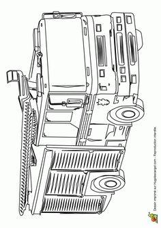 Les 86 meilleures images de coloriages de camions coloring pages trucks et 14 year old - Dessin pompier a imprimer ...