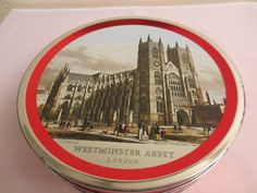 Vintage CALLARD & BOWSER TIN Toffee Selection Container Westminster Abbey London