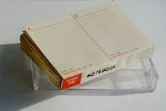Notebook in a cassette box, TDK D-60 - 224 blank pages.. £10.00, via Etsy.