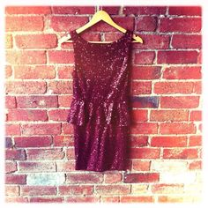 dark red sequin dress... perfect for the party season!