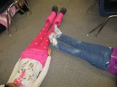 Math Standard 3.G.1 Students will understand that shapes in different categories may share attributes and that the shared attributes can define a larger category.  After my students have become familiar with numerous geometric shapes, I will have them form groups and make these various shapes and math vocab. words (parallel lines, intersecting lines, rays...etc....) on the classroom floor using their bodies as line segments.