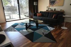 Buy Chakra-Indigo carpet tile by FLOR Floor Art, Carpet Tiles, Chakra, Indigo, Area Rugs, Turquoise, Flooring, Make It Yourself, Contemporary