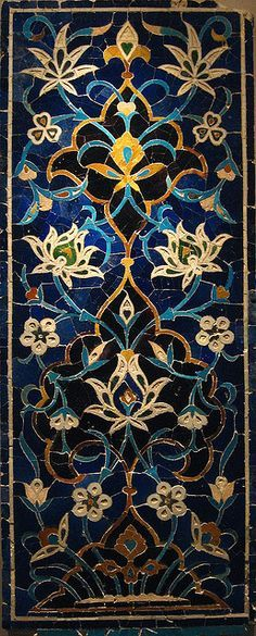 persian mosaic - Art: Tiles, Mosaics, Murals, Decorative Panels and Screens Tile Art, Mosaic Art, Mosaic Glass, Mosaic Tiles, Stained Glass, Glass Art, Blue Mosaic, Cement Tiles, Motif Oriental