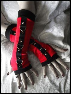 Blood Fiend Gothic Unisex Bondage Arm Warmers by ZenAndCoffee, $34.00