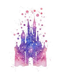 Disneys Cinderella Castle  Art Print