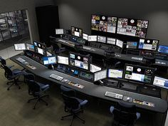 Creating Space for New Technology - Technical furniture for Broadcast, Video Production, Post-Production Edit, Security, Process Control and Dispatch Ceo Office, Office Lobby, Security Room, Home Security Systems, Office Interior Design, Office Interiors, Safe Room, Computer Setup, Home Network