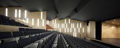 Interior aspect of the Municipal Auditorium of Teulada in Alicante, Spain by Francisco Mangado