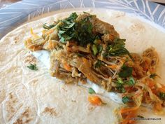 What Would Jeanna Cook: Indian Chicken (or Pork) Wrap