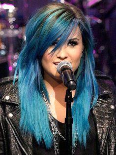 BLUE HAIR photo | Demi Lovato