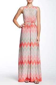 Twisted Neck Open Back Maxi Dress by LIX on @HauteLook