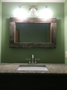 Barn wood mirror frame