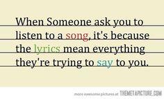 The lyrics mean everything